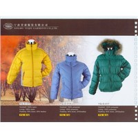 down jackets,  PP-cotton jackets, ski sports wears