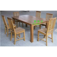 oak wooden table &chairs