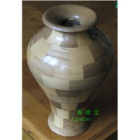 solid wood craft vase