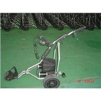 Electric golf trolley with remote control