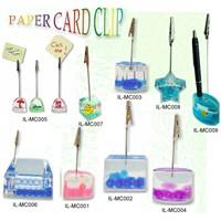 Acrylic Liquid-filled memo clip, paper holder