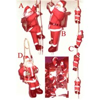 Lighted Rope climbing Santa