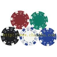 dice poker chip