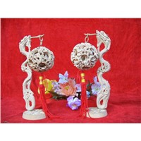 Chinese Dragon Hanging Wood Puzzle Ball