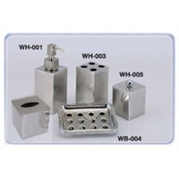 5pcs stainless steel bathroom set