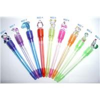 different shape plastic light up pen