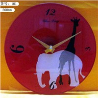 solid glass clock