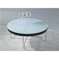 Modern metal/glass dining table HA-0427