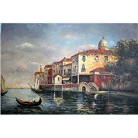 oil painting-venice