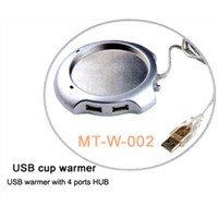 USB CUP WARMER WITH 4 HUB