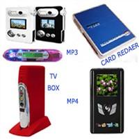 mp3,mp4,card reader,tv box,tv card