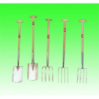 stainless steel shovel and fork