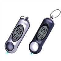 Keychain w/ Torchlight & LCD Clock