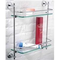 double level glass shelf-bathroom accessary