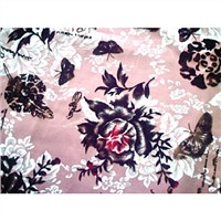 Printed Flocking Garment Fabric