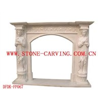 Marble Hand-carved Fireplace Mantel