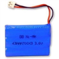 NiMH Rechargeable Battery Pack for Cordless Phone(BB-43AAA700*3)