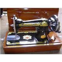 sewing machine and padlock