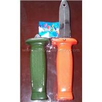 plastic spring knife