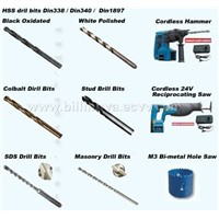 HSS Drill / SDS Drill / Masorny Drill Bits / Cordless Power Tools