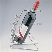 Spring-shape wine holder