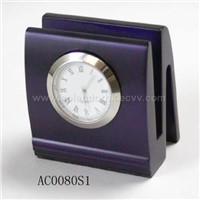 Clock with Name Card Holder