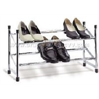 Extensible 2 tier shoe rack
