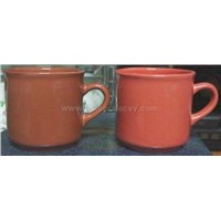 8 OZ Color Glazed Mugs, lead and Cadmium Free
