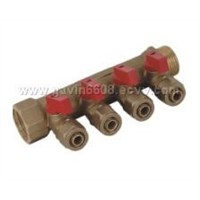 Brass Manifold with Ball Valve