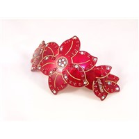 Acrylic Barrette Clip with CZ Diamond