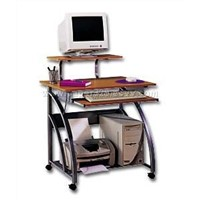 computer desk with workstation