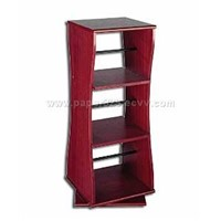 Revolving Mahogany Effect Media Storage Unit A,
