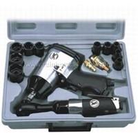 "17pcs 1/2"" Air Impact & Ratchet Wrench Kit"
