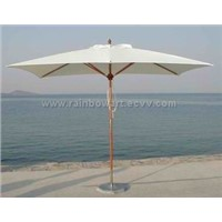 deluxe wooden umbrella 2x3 mt