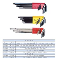 Screwdriver Series-Black-Plated & Chrome-Plated Hex Key Set-CT-109361093710938