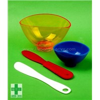 Disposable Dental Rubber Bowl, Spatula