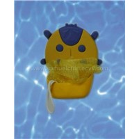 Plastic Bath Sponge and Holder