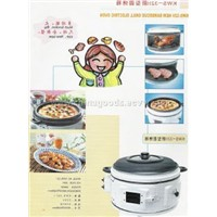Electric oven with barbecue brill
