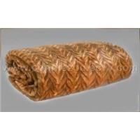 Sable Herringbone faux fur fabric