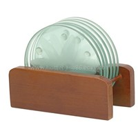 Glass Coaster with Bamboo Holder - HGR-001