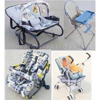 baby rocker,high chair,car seat and stroller
