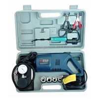 Auto wrench with air compressor