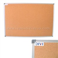 aluminum framed cork notice board