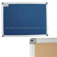 aluminum framed felt notice board