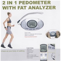 Pedometer with Fat Analyzer