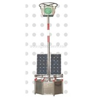 Solar power moved traffic light