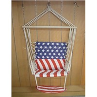 Swing chair with armrest and footrest