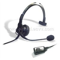 Light Weight Headset for Two Way Radios/Interphone