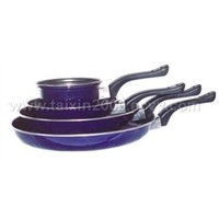 4 pcs set non-stick fry pan with milk pot(TX-858)
