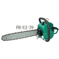 gasoline powered chain saw